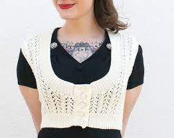 Plus Size Cropped Cardigan Brown Bolero Shrug Vest Plus Size Cardigan Hand Knitted Long