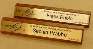 desk signs laser engraved brush gold plate on australian blackwood