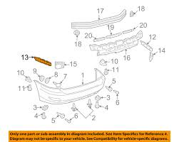 lexus rx 400h user guide lexus toyota oem 06 08 rx400h rear bumper retainer bracket left