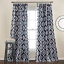 Navy Window Curtains Lush Decor Iron Gate Window Curtain Panel Set 84 X