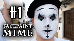 cool face painting for halloween draw a french mime face facepaint tutorial vlog 1 youtube