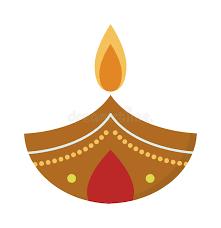 vector illustration traditional celebration happy diwali candle