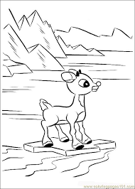 rudolph 40 coloring free rudolph red nosed reindeer