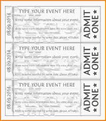 free event ticket template printable event ticket template