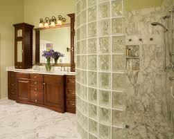 bathroom design amazing curved glass block shower enclosure