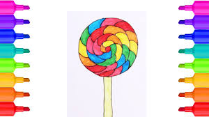giant lollipop drawing and coloring for kids coloring pages for