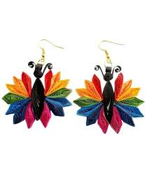 quilling earrings set paper quilling earrings 1 set buy paper quilling earrings 1
