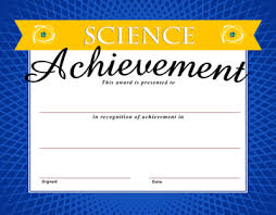 image science achievement certificate christart com