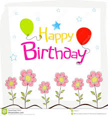 birthday wishes templates happy birthday wishes poster design with decoration stock