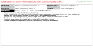 Ppc Resume Amazing Income Tax Preparer Resume Gallery Simple Resume Office