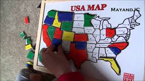 World Map Puzzles by 2 Yr Old Completed Usa Map Puzzle Melissa U0026 Doug Wooden Usa Map