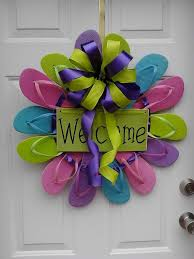 flip flop wreath flip flop wreaths flip flop summer wreath pilotproject org
