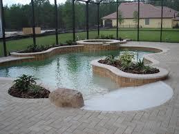 beach entry natural springs pools