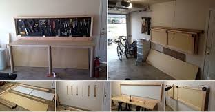 how to build a wall mounted folding workbench home design