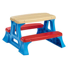 plastic convertible bench picnic table american plastic toys picnic table walmart com
