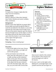 science a z light energy grades 5 6 physical science unit