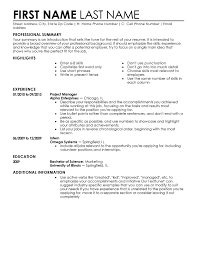 examples of resume layouts