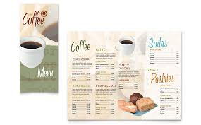 menu publisher template coffee shop take out brochure template word publisher