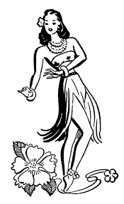 retro clip art hawaiian ladies dancers the graphics fairy