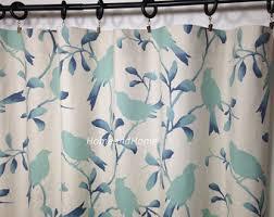 Teal Bird Curtains Bird Curtains Etsy