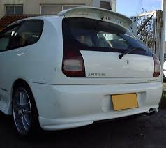colt mitsubishi 1995 roof rear spoiler wing for mitsubishi colt mirage 1996 2000 3 door