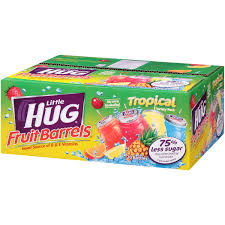 huggie drinks hug tropical fruit barrels variety pack 8 fl oz 20 pack