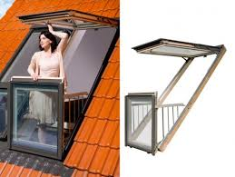 Dormer Window With Balcony Fakro U0027s Innovative Windows Transform Into Airy Rooftop Balconies