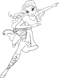 dc superhero girls coloring pages poison ivy free printable super