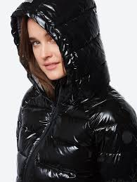 Bench Padded Jacket Bench Water Repellent Quilted Jacket In Shiny Look Official