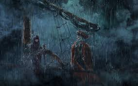 spooky texture pirates fantasy storm rain drops wet water unifirm dark scary