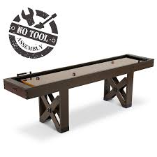 barrington 9 solid wood shuffleboard table barrington 9 ft fremont collection shuffleboard md sports
