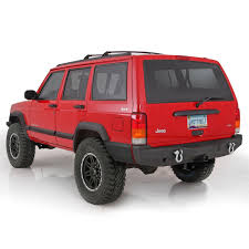 jeep cherokee chief xj 2 smittybilt 76850 xrc rear bumper for jeep cherokee xj ebay