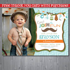 Invitation Card 7th Birthday Boy Free Little Man Birthday Party Invitations Template Drevio