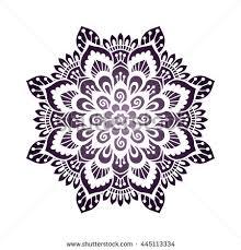 mehendi style mandala henna tattoo design stock vector 445113334