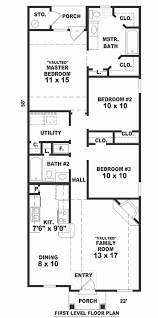 narrow house floor plans 50 best of photos 2 bedroom narrow house plans home inspiration