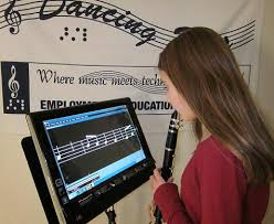 How Do Blind People Read Braille Braille Music Software For Blind Magnified Music For Low Vision