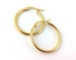 gold hoop earings gold hoop earrings etsy