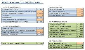 small food business food product cost u0026 pricing calculator