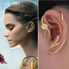 cuff earrings disney beauty and the beast earring ear cuff gold
