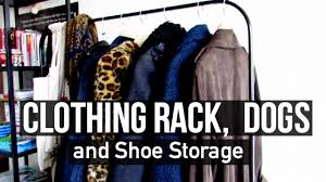 clothing rack dogs and shoe storage youtube