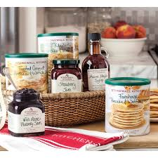 stonewall kitchen morning favorites gift basket gourmet food