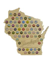 Wisconsin Breweries Map by Bottlecap Map
