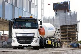 daf cf and mixer trailer combination reduces traffic movement for