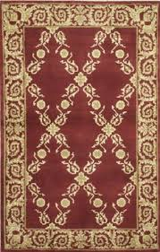 3x6 Rugs Accents Collection Chateau Garnet Burgundy Contemporary Tan Floral