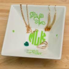 Monogramed Jewelry 3 Initials Monogram Necklace 1 5 Inch Vine Personalized Monogram