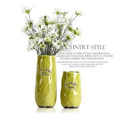 yellow green ceramic vase of modern european style large floor