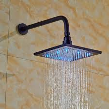 fontana led colors shower rubbed bronze finish