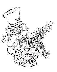 mad hatter tattoo line art by madhatter aggie on deviantart