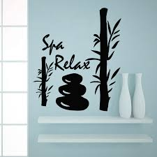 popular salon wall posters buy cheap salon wall posters lots from spa relax bamboo silhouette wall sticker decals beauty salon home bathroom art decor wall mural poster