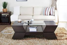amazon com iohomes annika ultra modern glass top coffee table